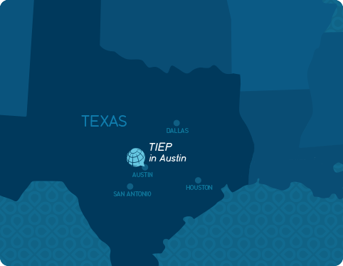 TIEP in Austin and at Lamar University overview map